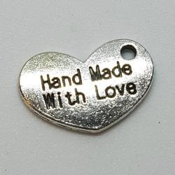 """Zawieszka - serduszko """"Hand Made With Love"""""""