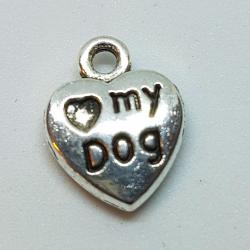 """Zawieszka - serduszko """"Love My Dog"""""""