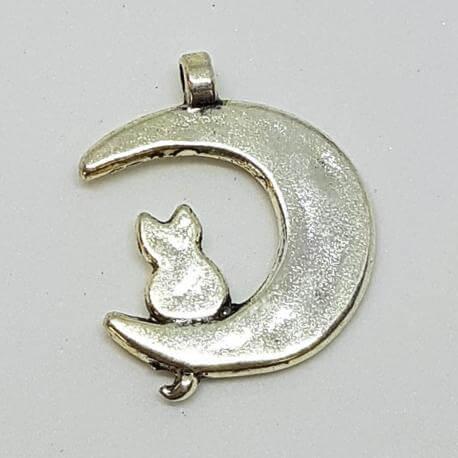 Zawieszka - kot na księżycu