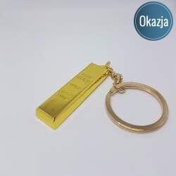 Brelok Deluxe - złota sztabka, kategoria Deluxe, cena 24,90 zł - BR_00174-brylok.pl