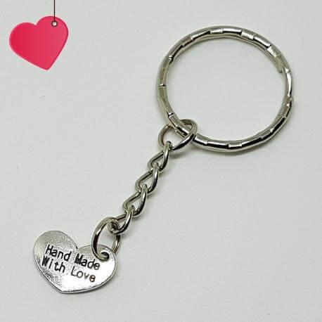 """Brelok - serduszko \\""""Hand Made With Love\\"""", kategoria Miłość, cena 15,90 zł - BR_00017-brylok.pl"""